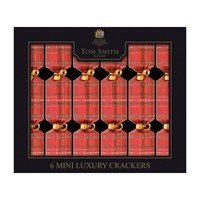 Tom Smith 6 x 8in Red Tartan Mini Luxury Christmas Crackers (XAGTS2303)