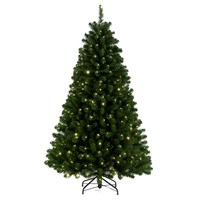Tree Classics 2.1m (7ft) Green Arctic Spruce with Warm LEDs Artificial Christmas Tree (84-866-385LM)