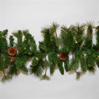 Tree Classics 2.7m x 30cm Northern Spruce Artificial Garland with Warm LEDs (912-200-377L)