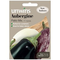 Unwins Seeds Aubergine Patio Mix (30310494)