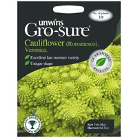 Unwins Seeds Cauliflower (Romanesco) Veronica F1 (30310342)