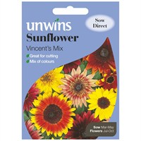 Unwins Seeds Sunflower Vincent's Mix (30210206)