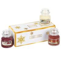Yankee Candle Christmas Jar Boxed Gift Set with 3 Small Jars (1562369)