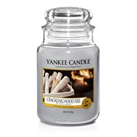 Yankee Candle Classic Christmas Large Jar - Crackling Wood Fire (1556292E)