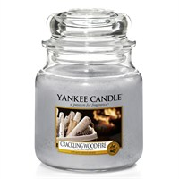 Yankee Candle Classic Christmas Medium Jar - Crackling Wood Fire (1556293E)