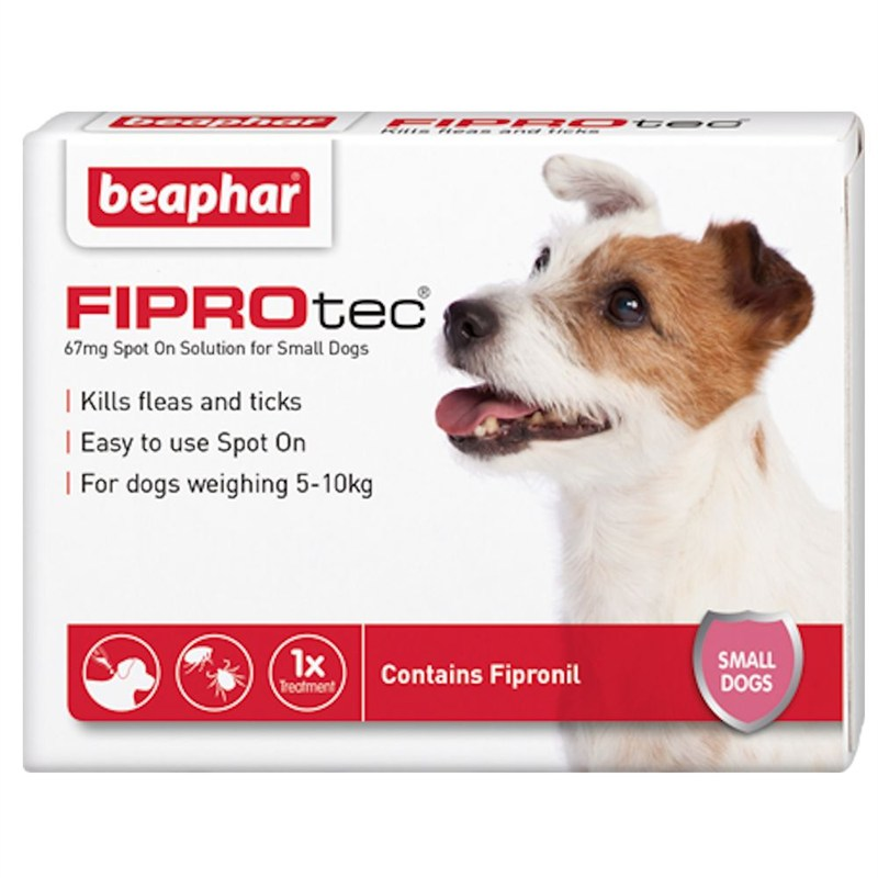 beaphar fiprotec spot on solution for small dogs 67mg x 3 14369. Black Bedroom Furniture Sets. Home Design Ideas
