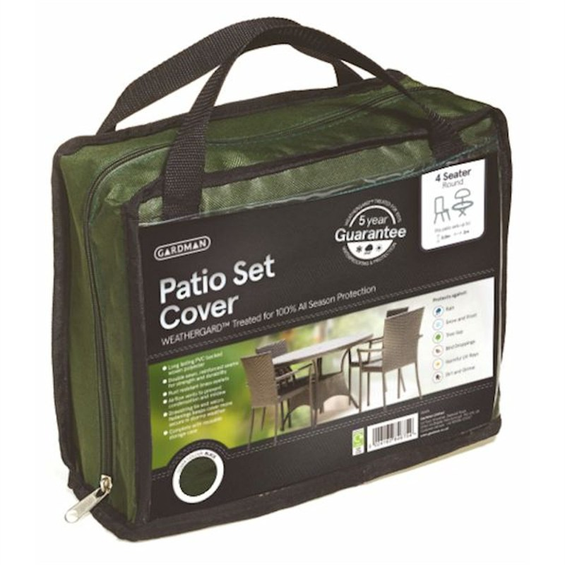 Gardman Premium 4 Seater Round Patio Set Cover Green