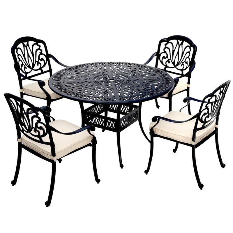 Charles bentley outdoor cast aluminium 4 seater dining set for Outdoor furniture direct