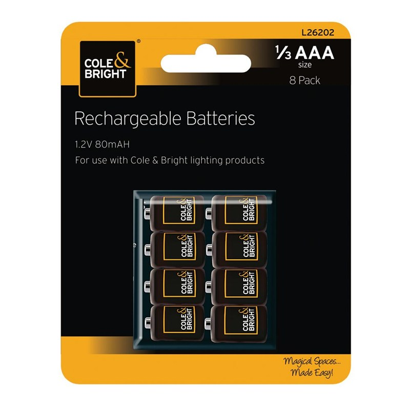 gardman 1 3 aaa rechargeable batteries 8 pack l26202. Black Bedroom Furniture Sets. Home Design Ideas