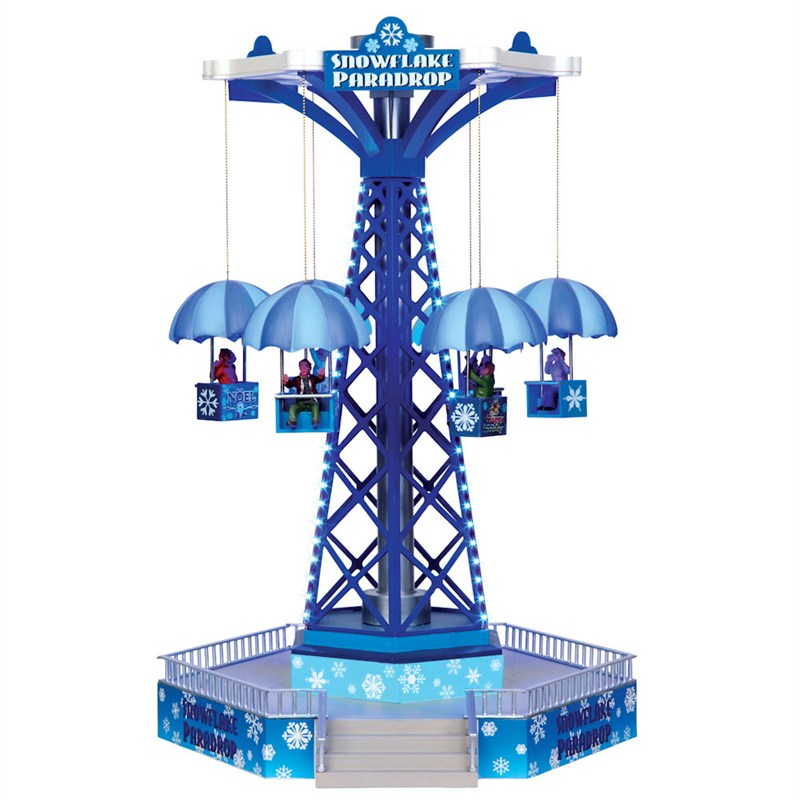 Lemax Christmas Village Crazy Cars Carnival Ride With 4 5v