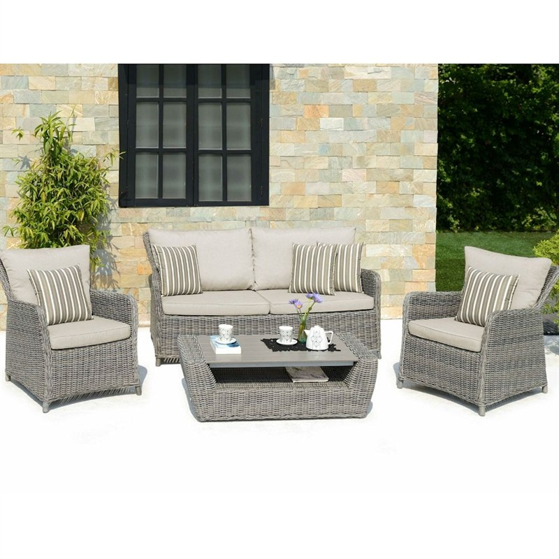 Lifestyle Garden Amola Sofa Set With Coffee Table