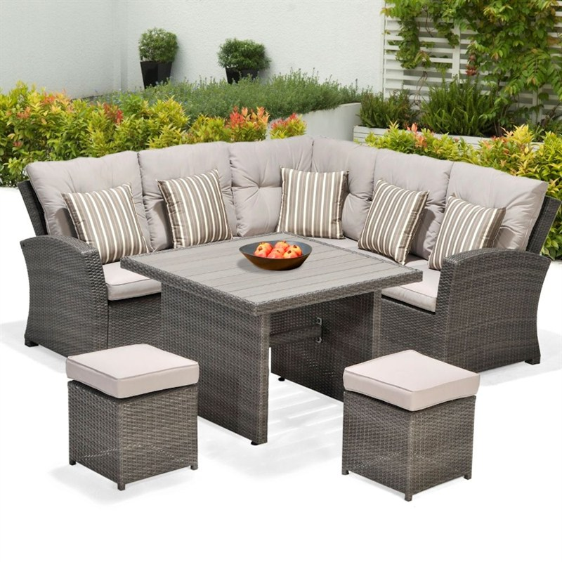 Lifestyle garden saigon mini corner casual dining set for Corner dining set