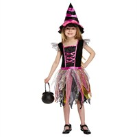 Child Pink Witch Halloween Costume (4-6 Years)