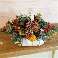 Christmas Frosted Table Basket