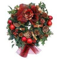 Christmas Red & Gold Door Wreath
