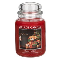 Village Candles - Happy Holidays Premuim 26oz Christmas Candle (106326356)