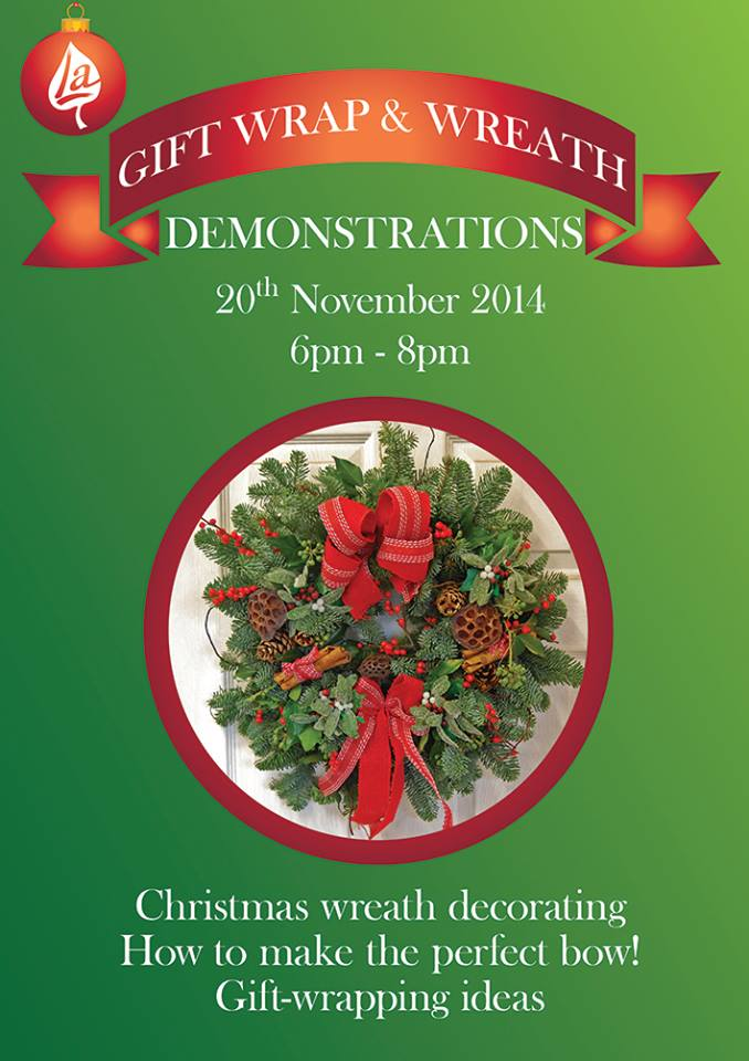 Shepperton Open Evening 2014 Gift Wrap and Wreath Demonstrations 6-8pm