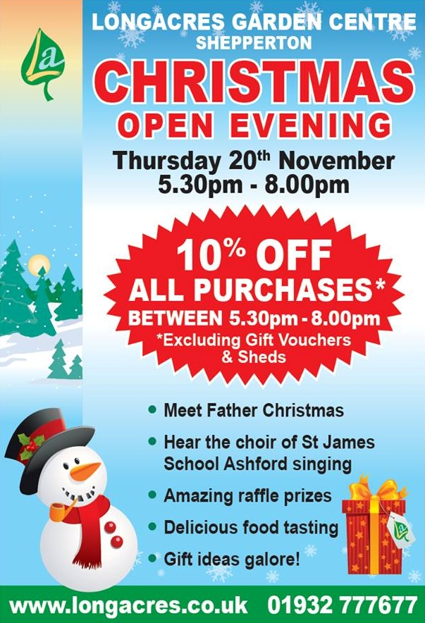 Shepperton Christmas Open Evening 2014 Flyer