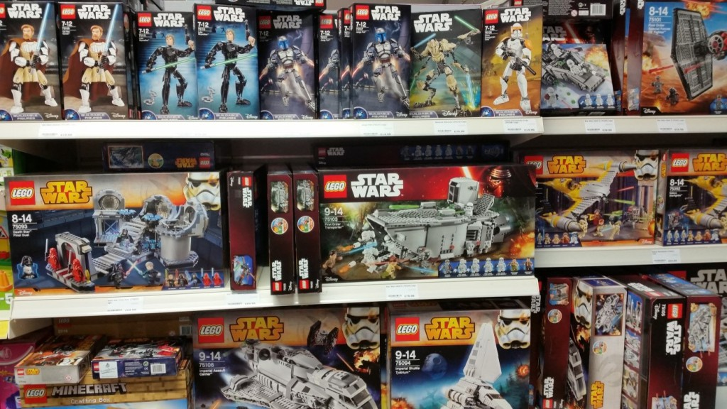 Lego Star Wars range at Longacres