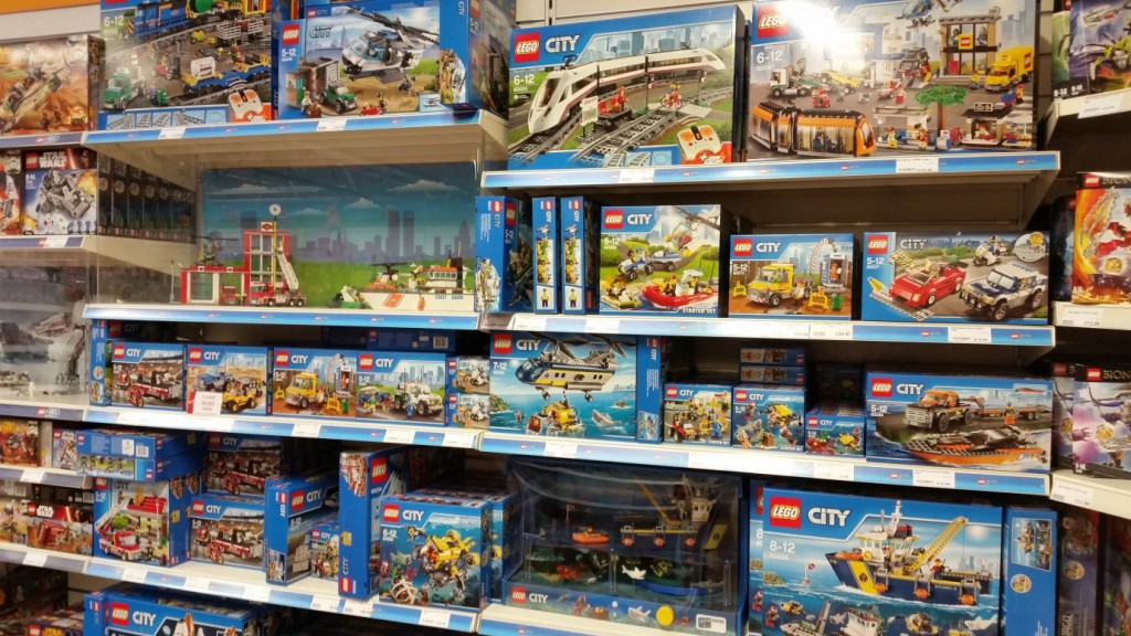 Lego City display at Longacres