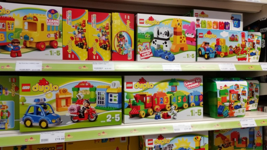 Lego Duplo display at Longacres