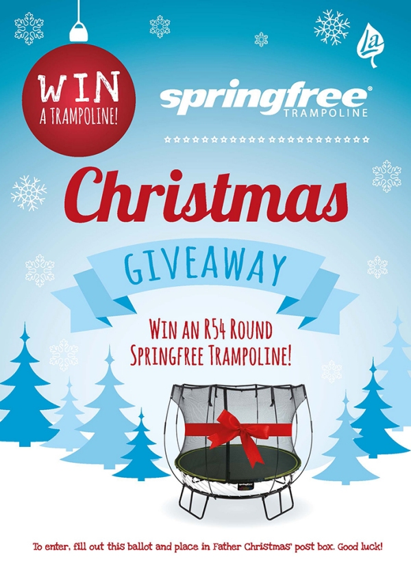 Springfree Trampoline Christmas Giveaway Flyer