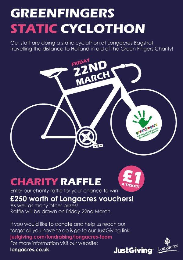 Longacres Bagshot Charity Raffle & Static Cyclothon In Aid