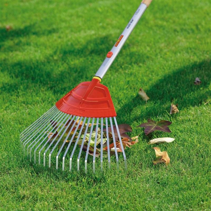 Wolf garten multi change 50cm lawn rake ub m for Large rake garden tool