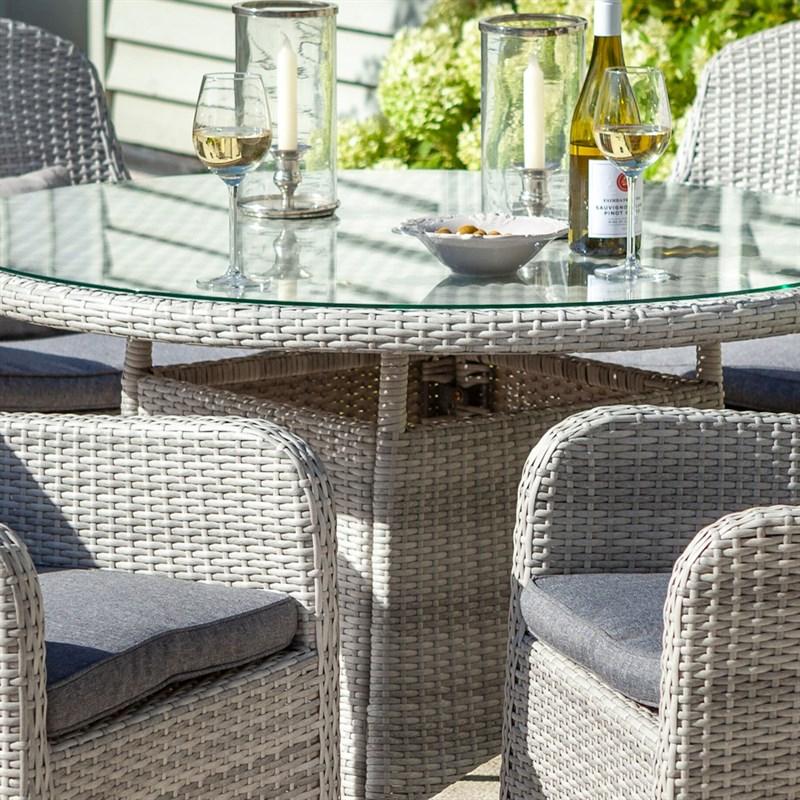 Hartman Curve 4 Seat Round Outdoor Garden Furniture Dining