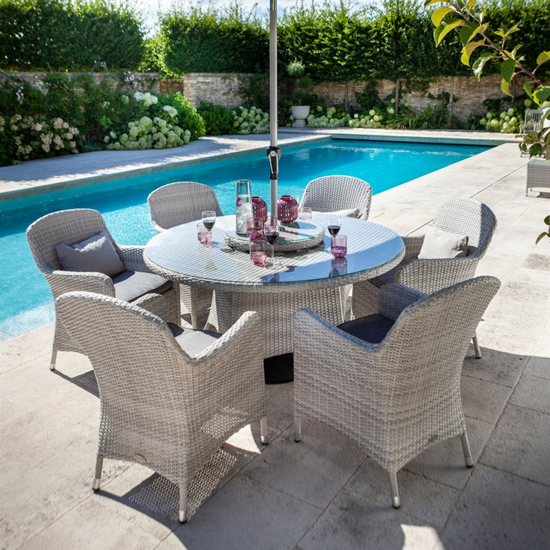 Hartman Curve 6 Seat Round Outdoor Garden Furniture Dining ...