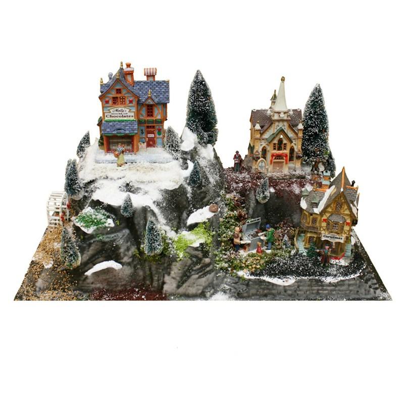 Christmas Village Accessories.My Village Christmas Village Accessories Tunnel Base My18