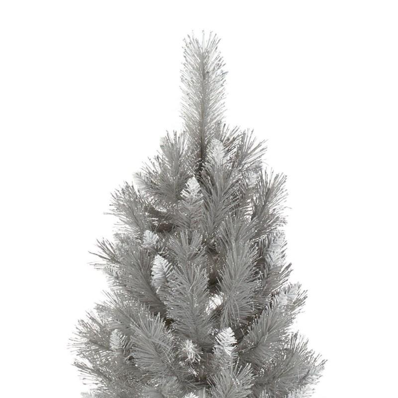 Premier 1.8m Silver Tip Fir Grey Artificial Christmas Tree ...