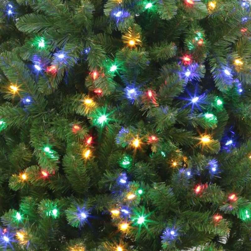 Multi Coloured Pre Lit Christmas Trees