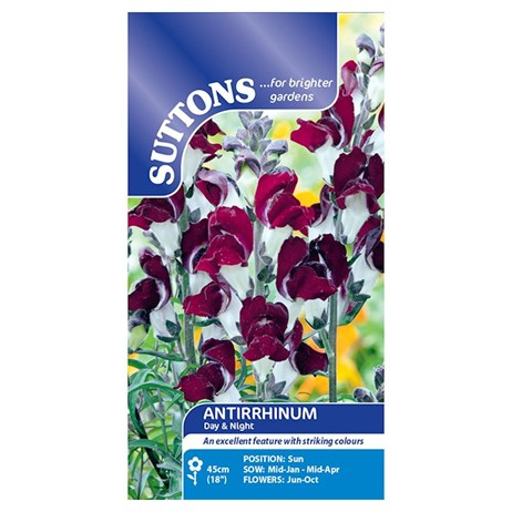 Suttons Antirrhinum Seeds - Day and Night (101815)