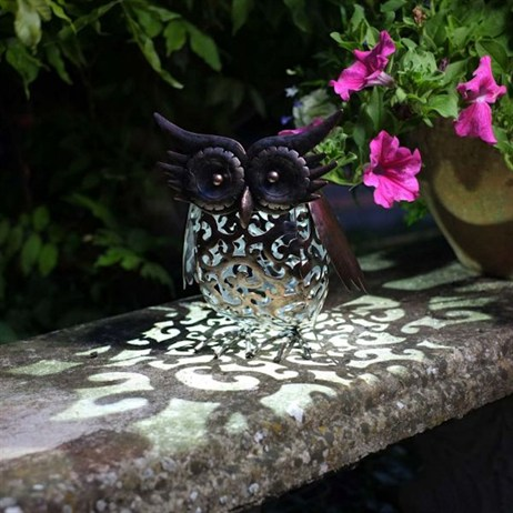 Smart Garden Metal Filigree Owl (1050013RB)