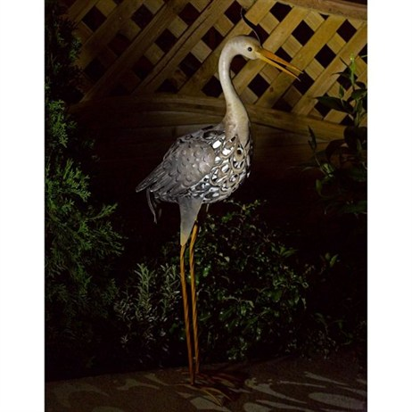 Smart Garden Metal Filigree Heron (1050840RS)
