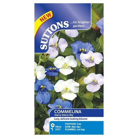 Suttons Commelina Seeds - Starry Starry Sky (110362)