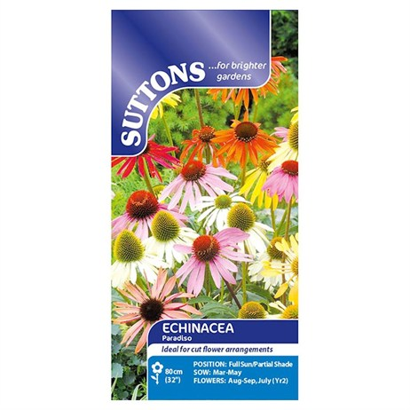 Suttons Echinacea Seeds - Paradiso Mix (113239)