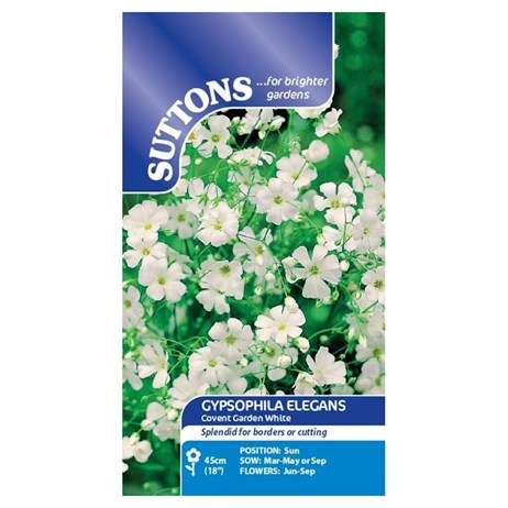 Suttons Gypsophila Seeds - Covent Garden White (117039)