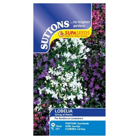 Suttons Lobelia Seeds - String of Pearls (119862)