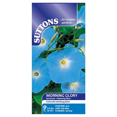 Suttons Morning Glory Seeds - Heavenly Blue (123400)