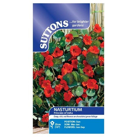 Suttons Nasturtium Seeds - Princess of India (123790)