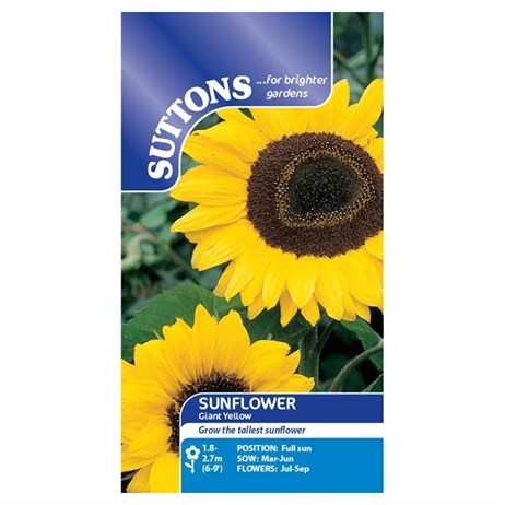 Suttons Sunflower Seeds - Giant Yellow (133069)
