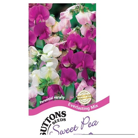 Suttons Sweet Pea Seeds - Everlasting Mix (133476)