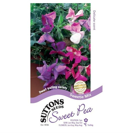 Suttons Sweet Pea Seeds - Sweetie Mix (133980)