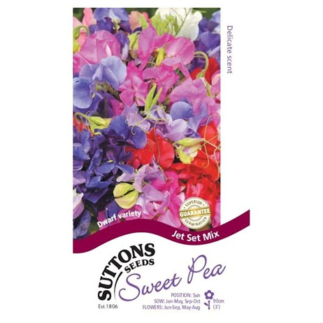 Suttons Sweet Pea Seeds - Jet Set Mix (134420)