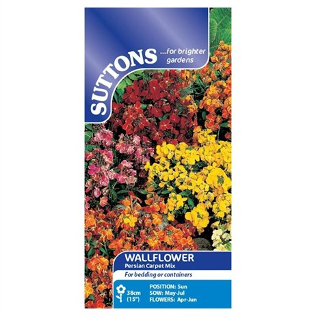 Suttons Wallflower Seeds - Persian Carpet Mix (138228)