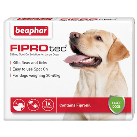 Beaphar FIPROtec® Spot-On Solution for Large Dogs 268mg x 6 (14376)