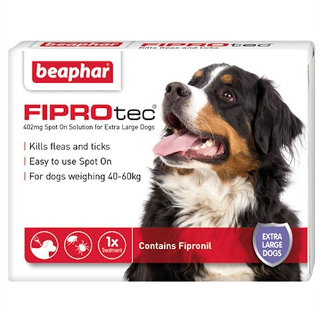 Beaphar FIPROtec® Spot-On Solution for Extra Large Dogs 402mg x 3 (14378)