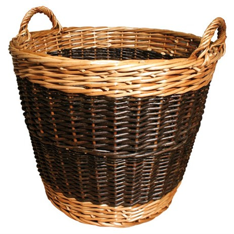 JVL Large Two Tone Log Basket 60 x 50cm (15-263)